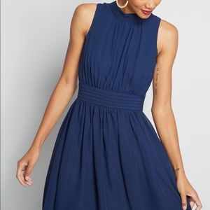 ModCloth Windy City A-Line Dress in Navy, 3X